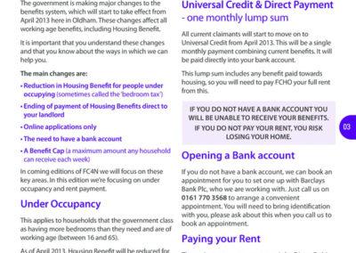Welfare reform copy for social housing client