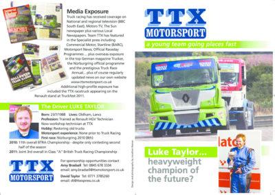 Sponsorship flyer for motorcross client