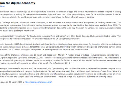 Digital economy copy for business newsletter