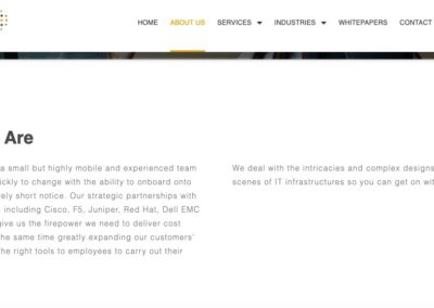 Web copy for IT services company