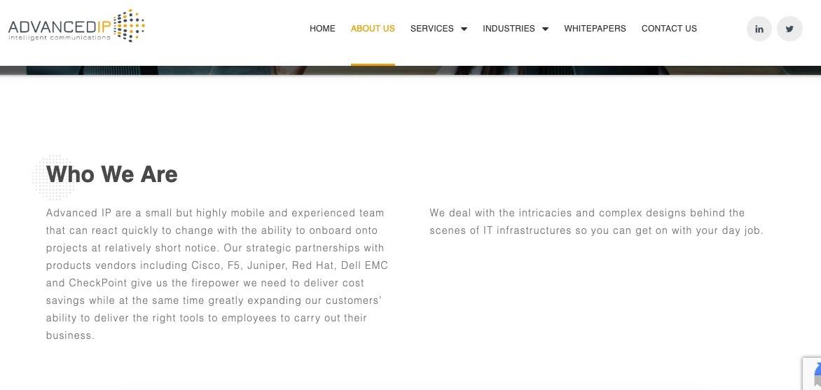 Web copy for IT service company