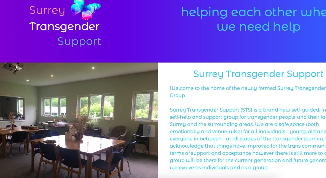 Web copy for newly formed transgender support group